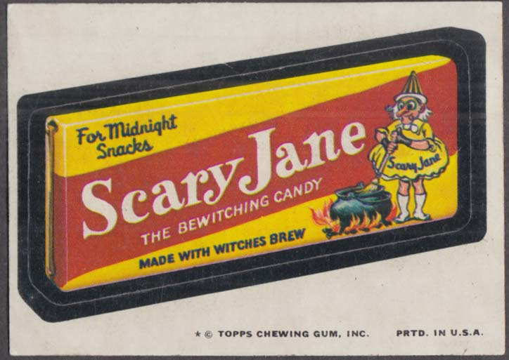 Topps Wacky Packages SCARY JANE Candy 1974 one * version