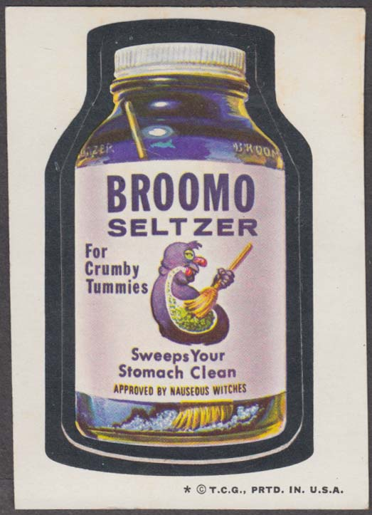 Topps Wacky Packages BROOMO SELTZER 1974 one * version