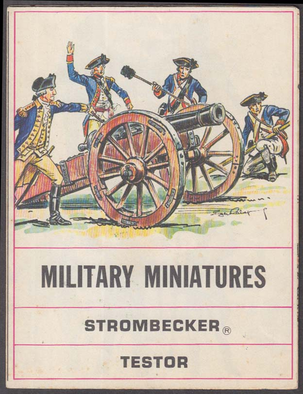 Strombecker Testor Military Miniatures Color Painting Guide 1960s