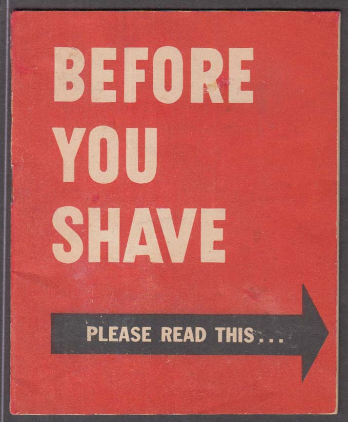 Remington Electric Shaver Before You Shave Read This booklet 1945