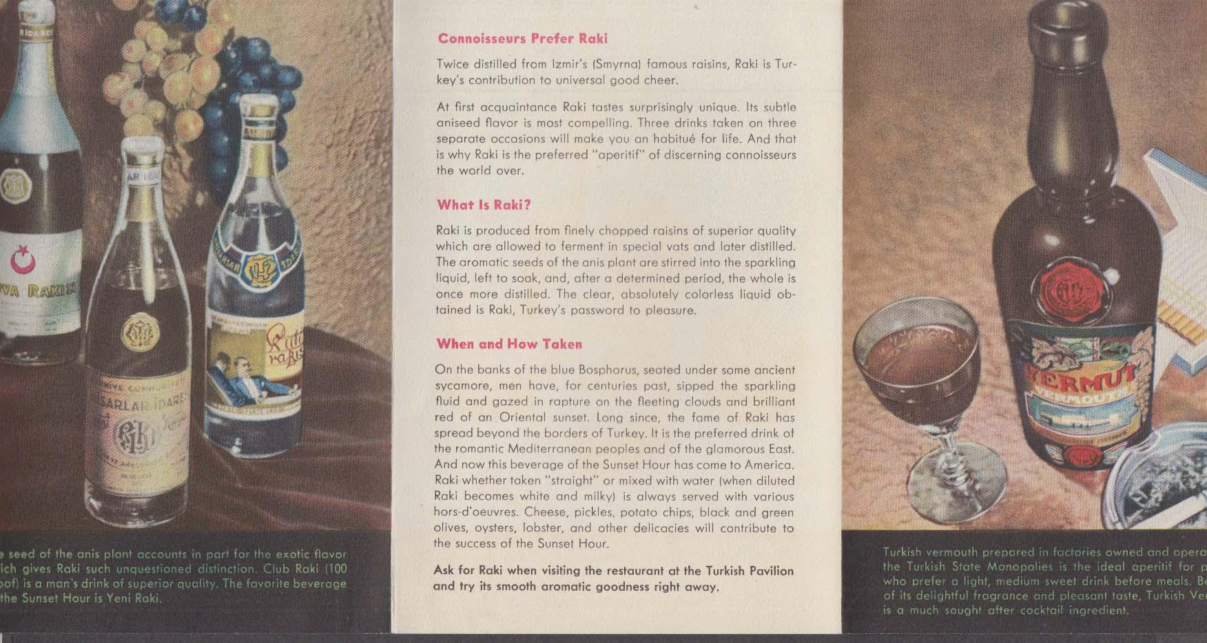 Turkish State Monopolies Wine folder NY World's Fair 1939