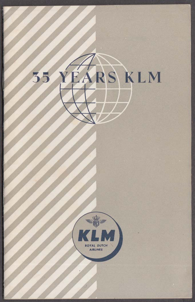 35 Years of KLM Royal Dutch Airlines booklet 1954