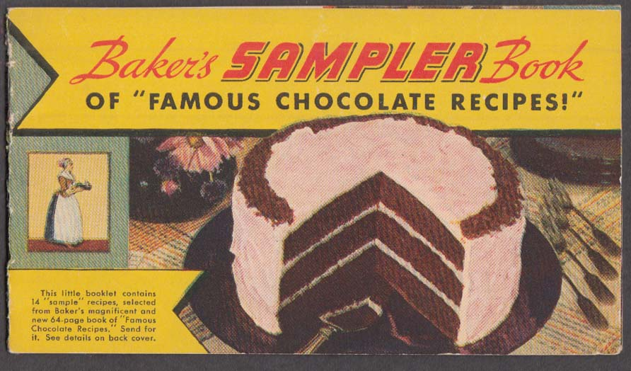 Baker's Sampler Book of Famous Chocolate Recipes 1936