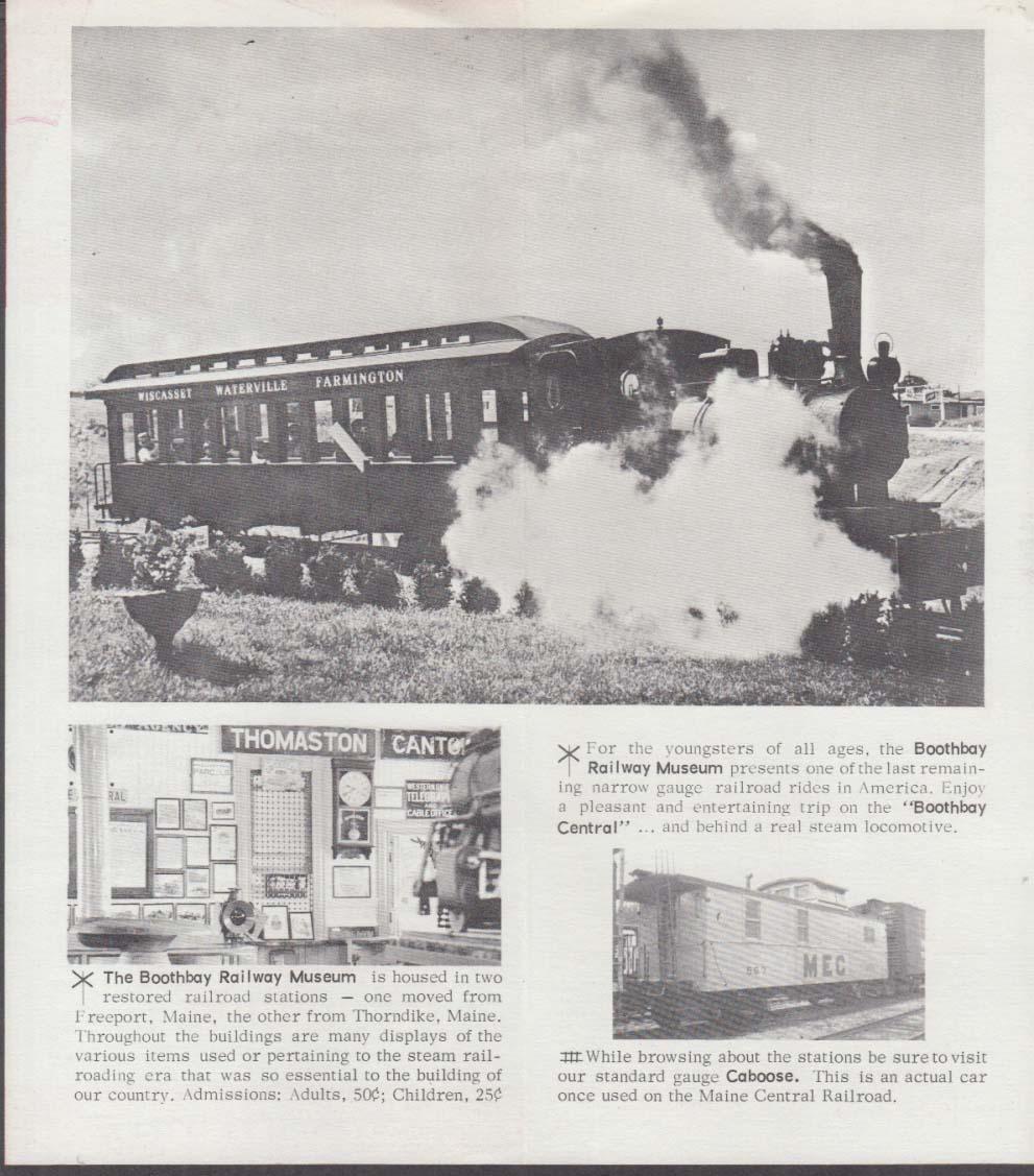 Boothbay Railway Museum Boothbay Maine folder 1960s