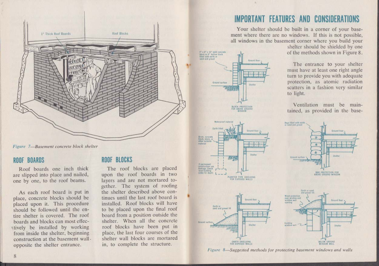 Building Your Basement Fallout Shelter booklet 1950s