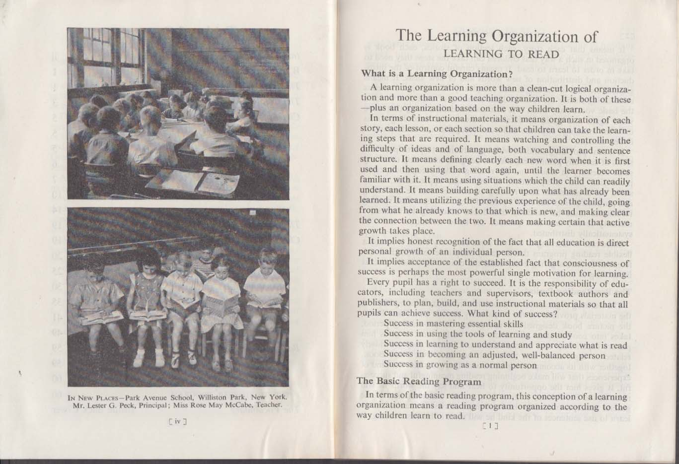 Silver Burdett The Learning Organization of Learning to Read primers 1945