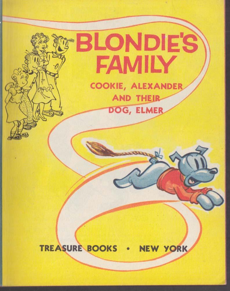 Blondie's Family Cookie Alexander & Their Dog Elmer Treasure Books 1954