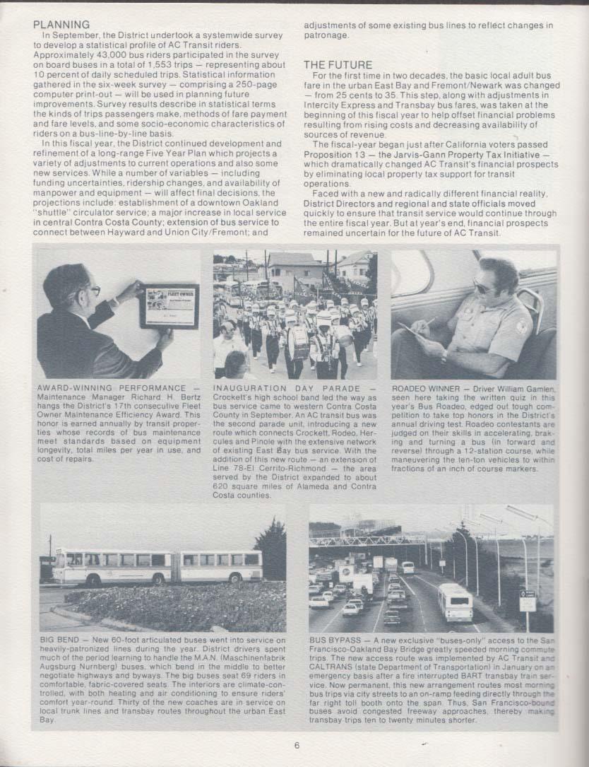 Alameda-Contra Costa Transit District Annual Report 1978-1979