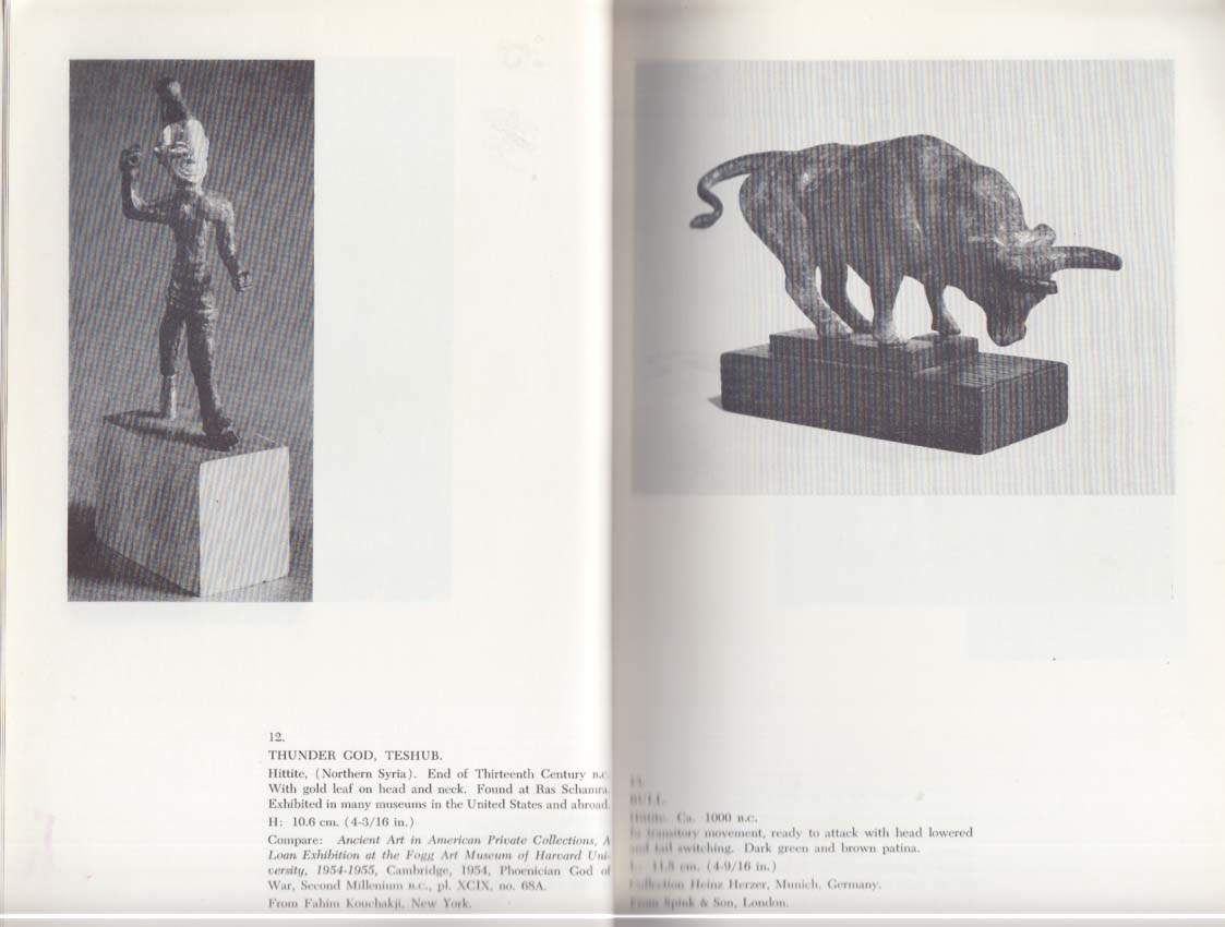 Ancient Bronzes from the Heckett Collection Cargenie Exhibition Catalog 1964