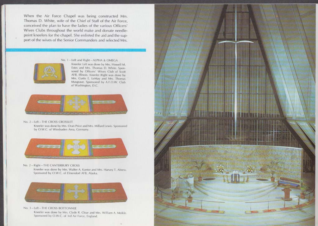 United States Air Force Academy Cadet Chapel Brochure 20th edition