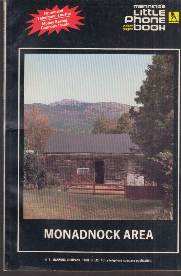 Manning's Little Phone Book Yellow Pages Monadnock Area NH 1985