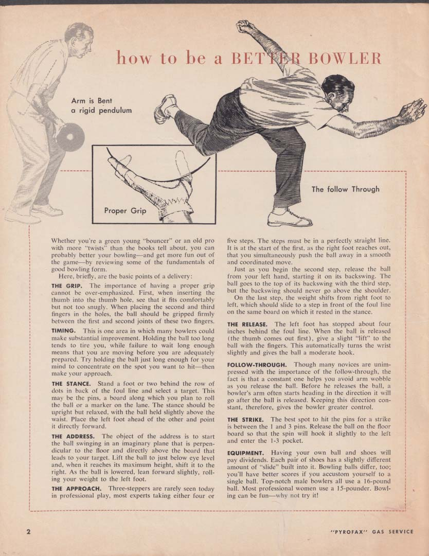 Pyrogax Gas Service MODERN HOME NEWS Fall 1960 bowling shrimp skating rink
