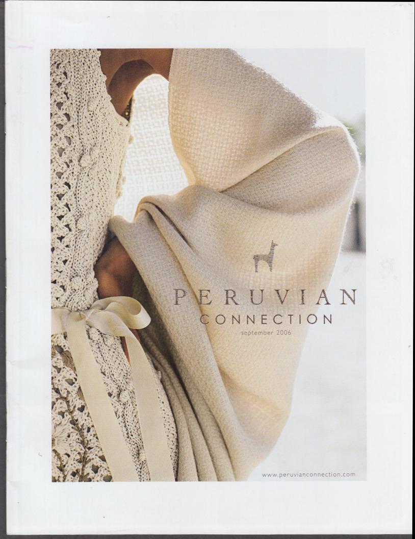 The Peruvian Connection Women's Men's Fashions & Accessories catalog 9 2006