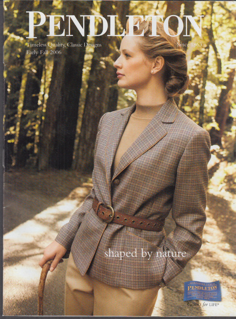 Pendleton Women's Fashions Shaped by Nature catalog Early Fall 2006
