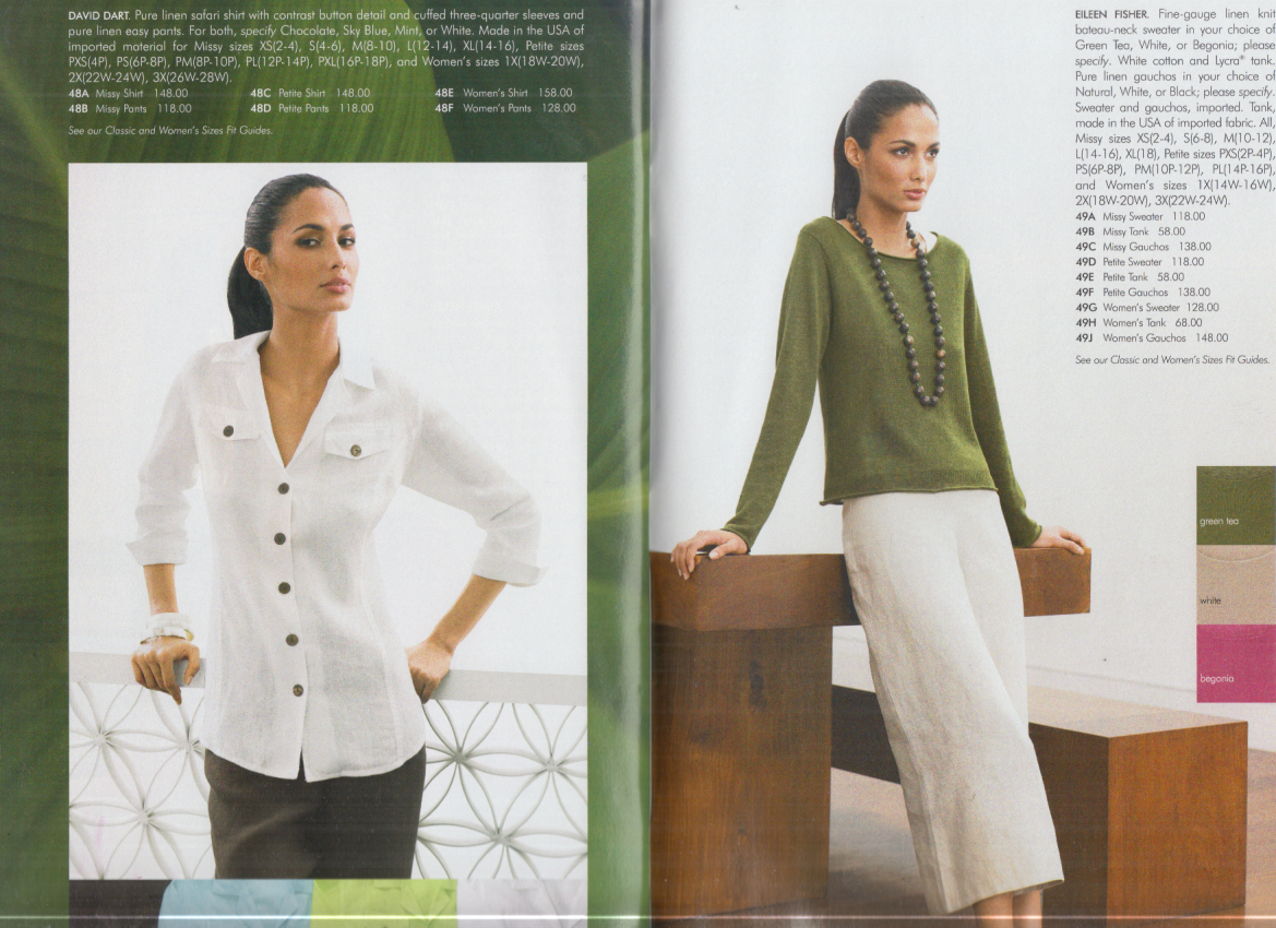 Nieman Marcus Women's Fashions catalog 4 2006 with sizes for the womanly figure
