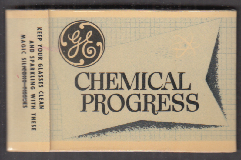 General Electric Chemical Progress eyeglass cleaner tissue packet 1950s