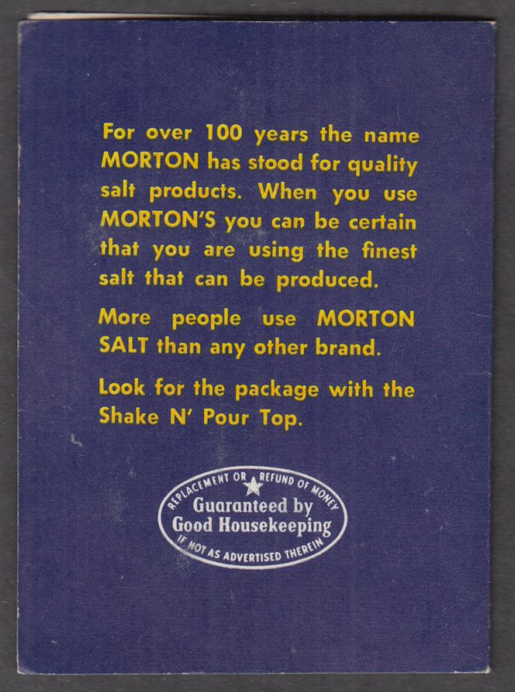 Morton Salt When It Rains It Pours neeedle packet ca 1950s