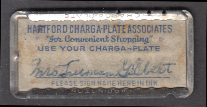 Hartford Charga-Plate Associates metal Charga-Plate 1940s Connecticut