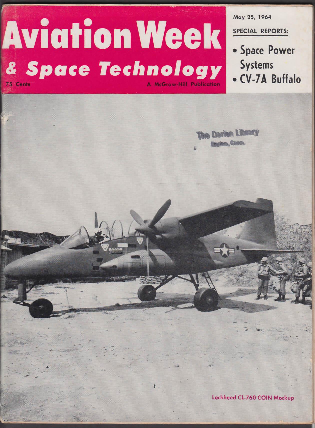 AVIATION WEEK & Space Technology CV-7A Buffalo Titan 3 F-105 + 5/25 1964