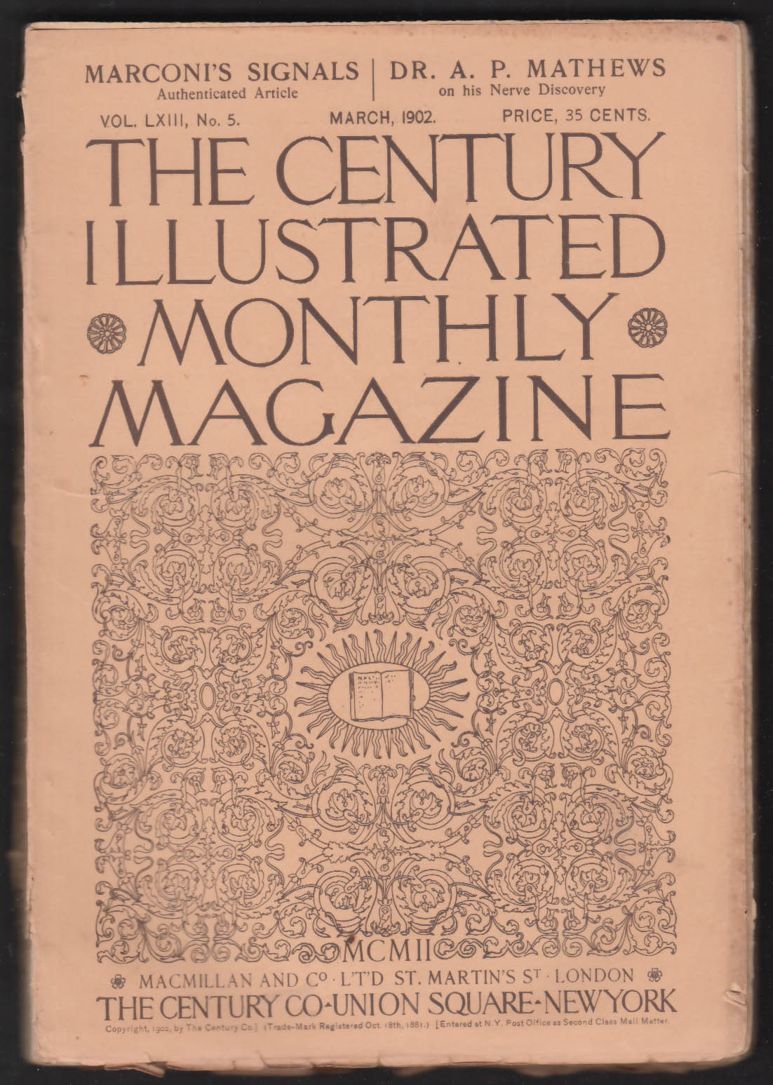 CENTURY ILLUSTRATED MONTHLY Marionette Theater Winston Churchill Marconi 3 1902