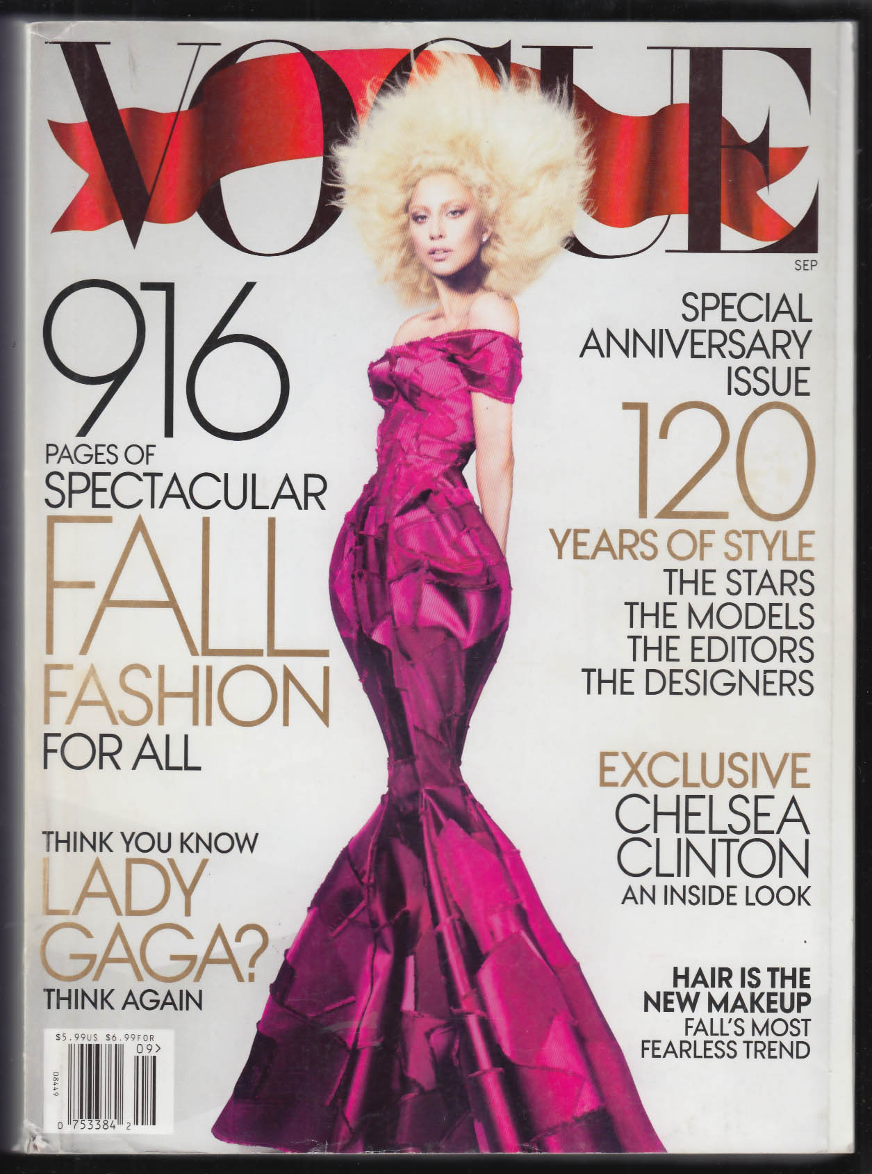 VOGUE Lady Gaga Chelsea Clinton Blake Lively St Vincent + 9 2012