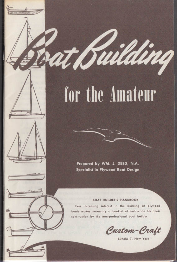 Custom-Craft Plywood Boat Building for the Amateur booklet 1950s