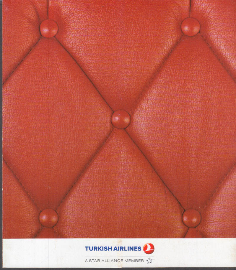 Turkish Airlines Comfort Class Menu ca 2011 Istanbul-Los Angeles [Star Alliance]