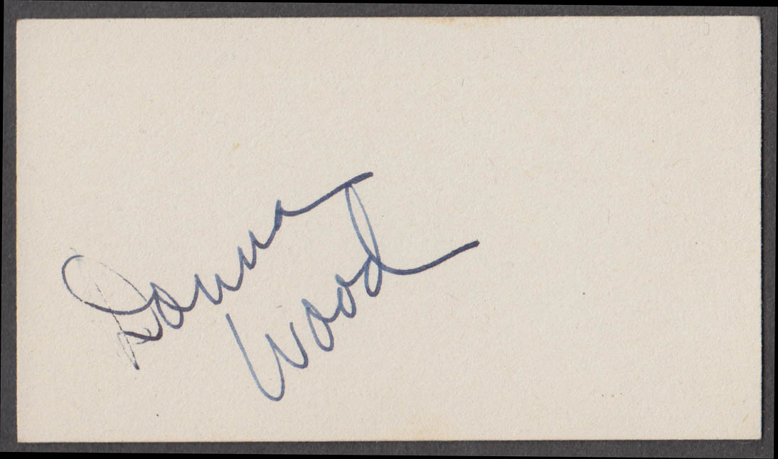 Horace Heidt Orchestra vocalist Donna Wood SIGNED autographed card 1942