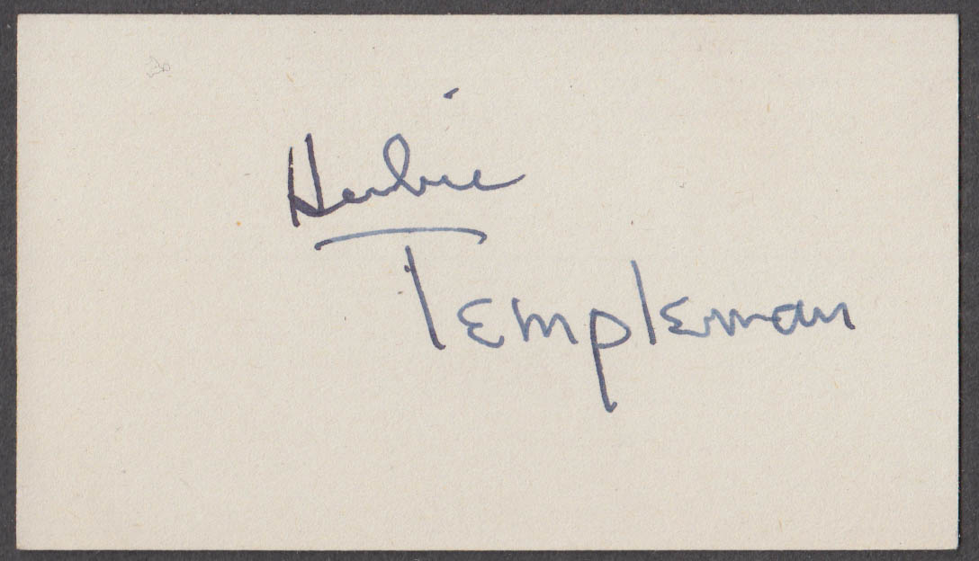 Herbie Templeton of the Gay Deceivers Horace Heidt Orchestra SIGNED card 1942