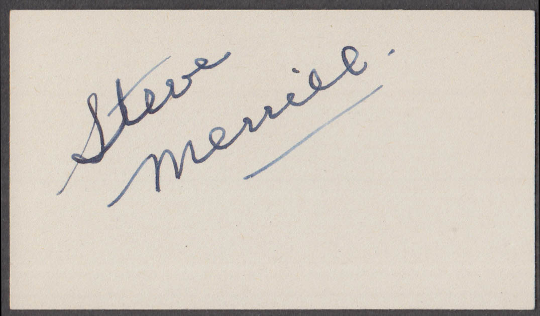 Horace Heidt Orchestra vocalist Steve Merrill SIGNED autographed card 1942