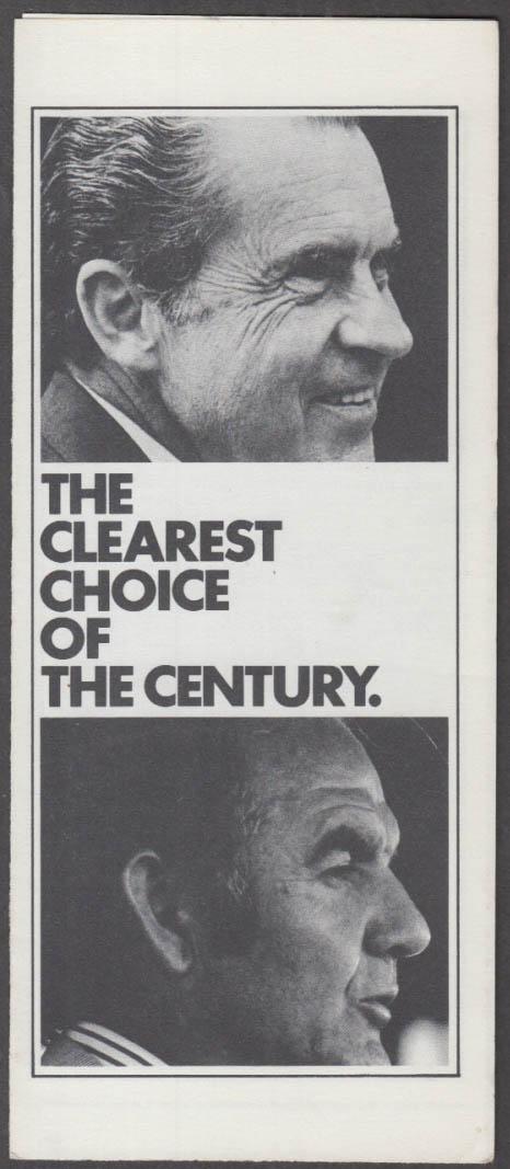 Clearest Choice of the Century: Nixon vs McGovern campaign folder CREEP 1972