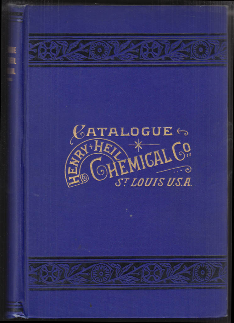 Henry Heil Chemical Co St Louis Apparatus Catalogue 1903