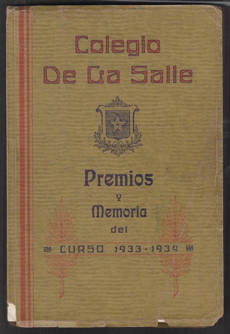 Colegio De La Salle School Yearbook Class of 1934 Havana Cuba