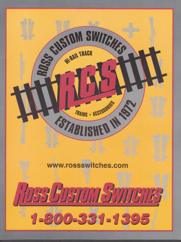 Ross Custom O & O27 Gauge Electric Train Swicthes catalog 2004