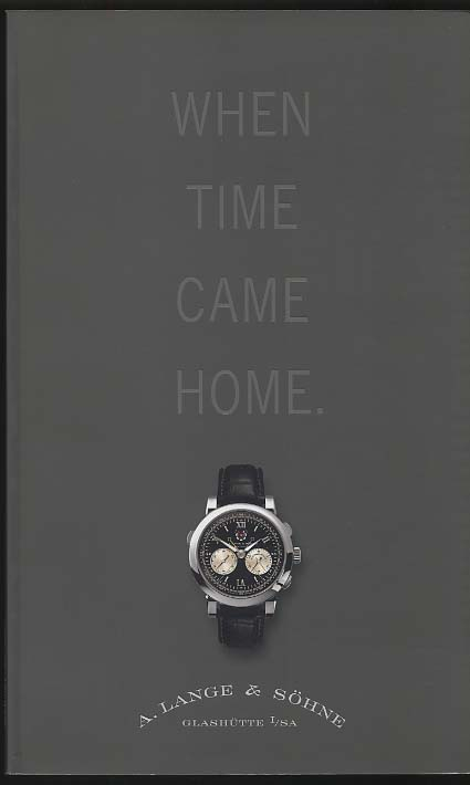 Image for A Lange & Sohne Wristwatch Catalog When Time Came Home 2004-5
