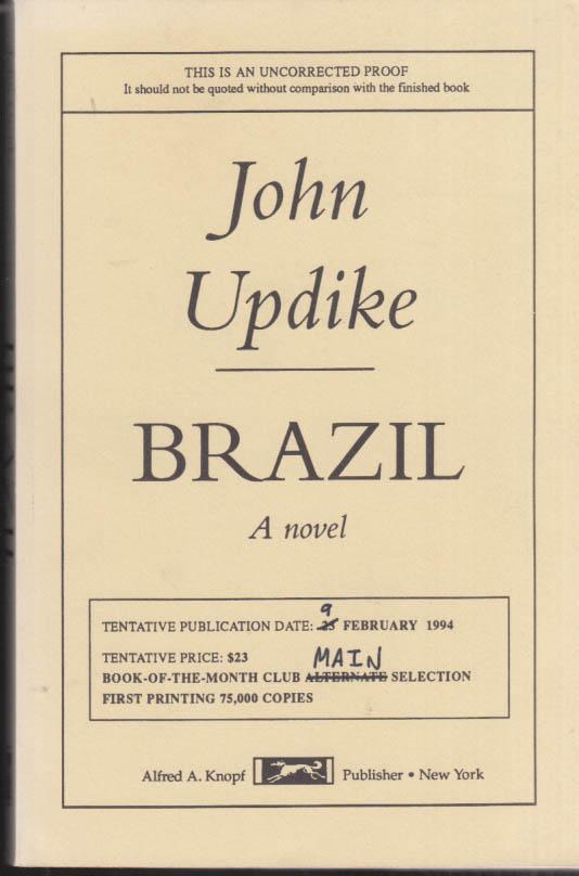 Image for John Updike: Brazil: Uncorrected Proof 1994