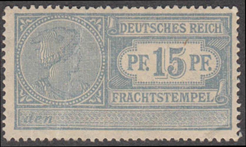 German Freight Stamp 15 pfennig cinderella stamp Fracht Stempel
