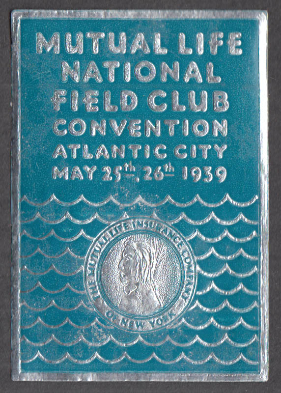Mutual National Life Insurance Field Club Convention sticker 1939