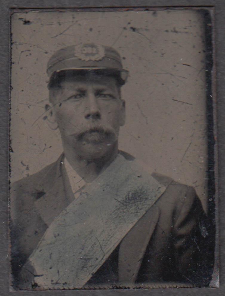Civil War 188th New York Infantry soldier little gem tintype 1860s