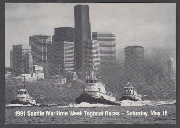1991 Seattle Maritime Week Tugboat Races card
