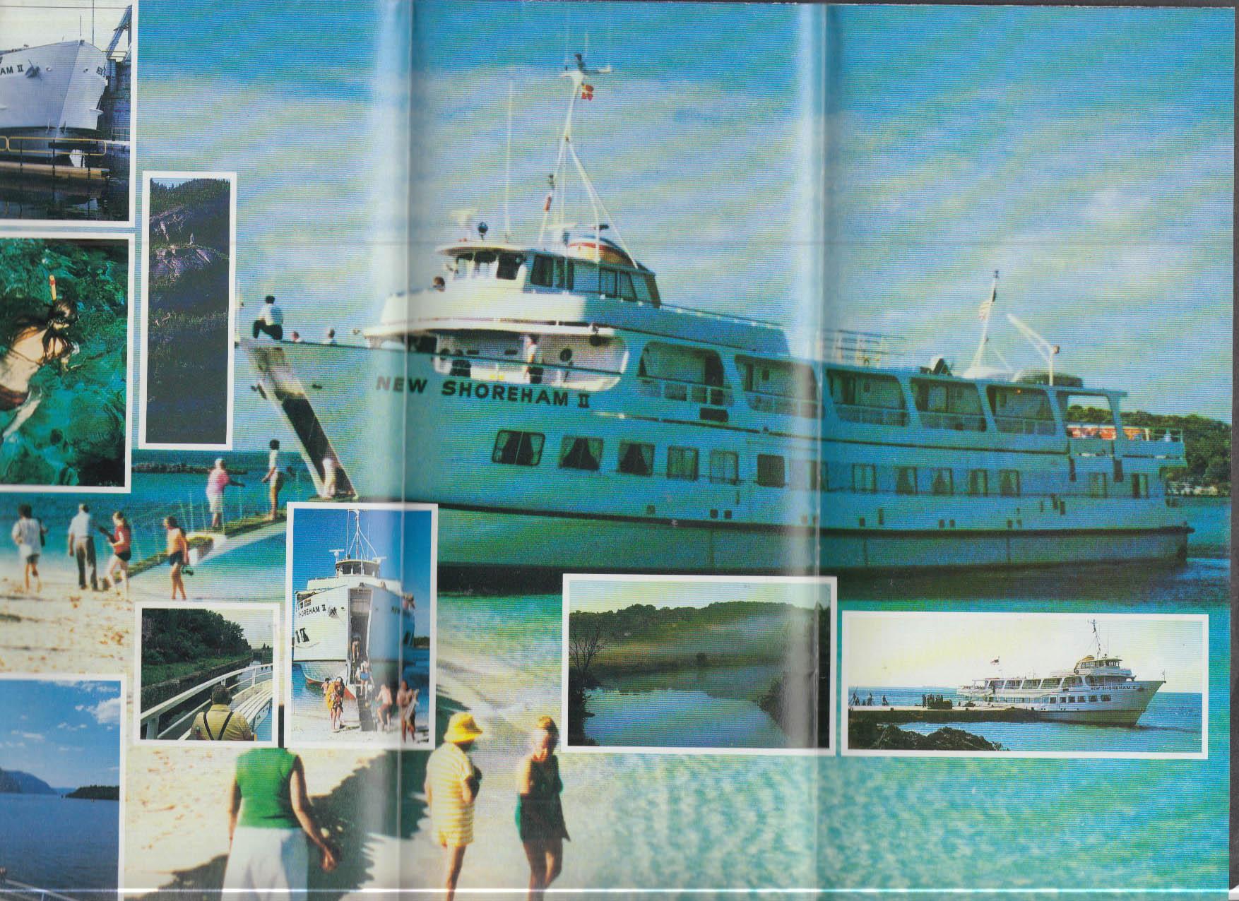 American Canadian Line M V New Shoreham II timetable folder 1983