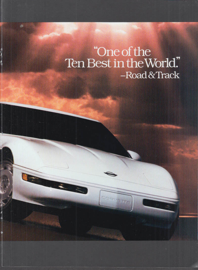 1990 Chevrolet Corvette Impala Lumina S-10 Geo magazine ad insert