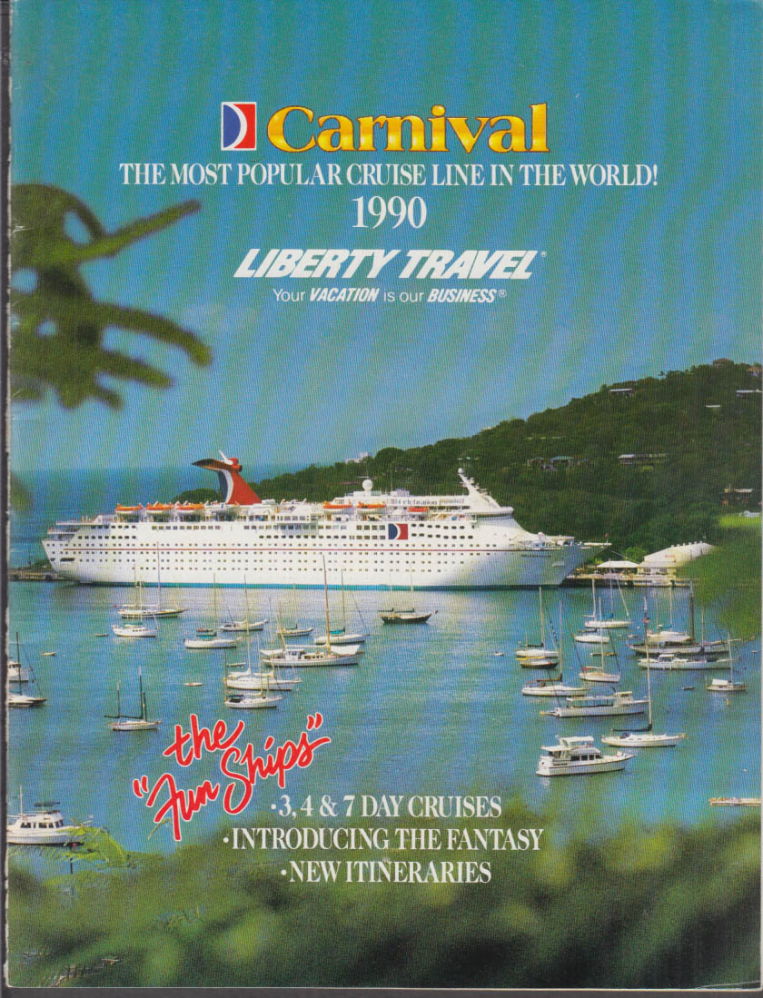 Carnival Cruise Lines 1990 Brochure w/ deck plans
