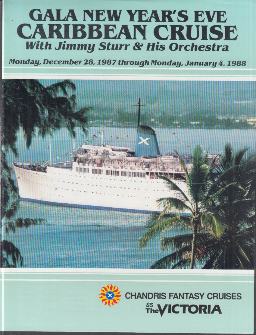 Chandris Fantasy Cruises S S The Victoria Caribbean folder w/ deck plans 1987