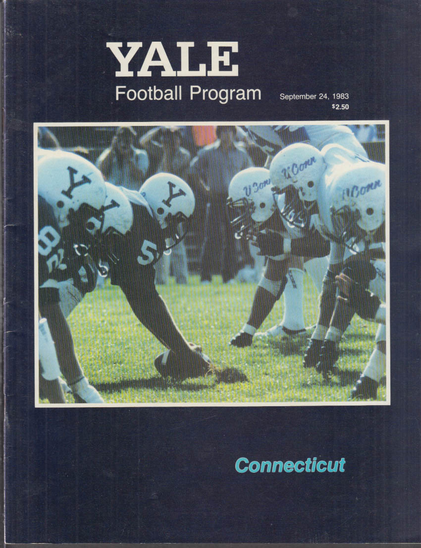 Connecticut at Yale College Football Program 1983 Corvette ad