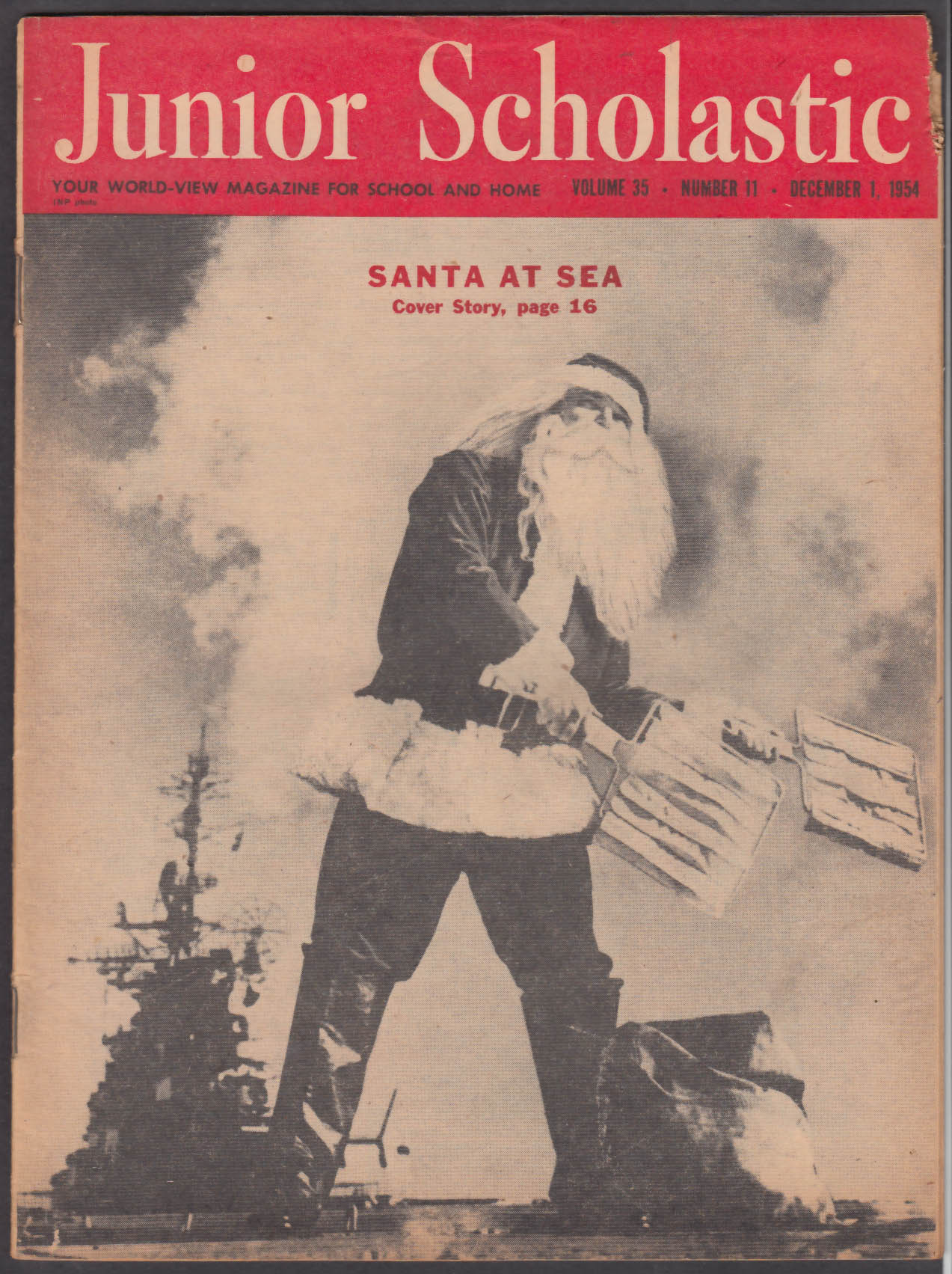 JUNIOR SCHOLASTIC US Navy Albion Batmen; Alaska + 12/1 1954