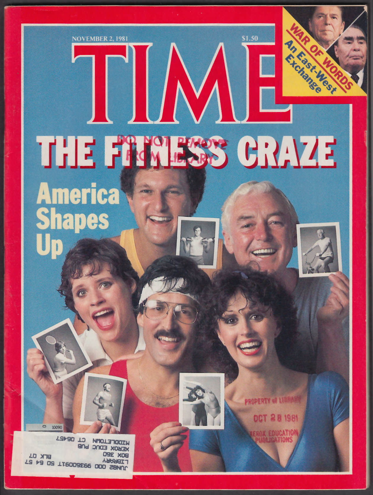 TIME Fitness Aerobics Jazzercise Ronald Reagan Brezhnev + 11/2 1981
