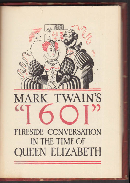 Image for Mark Twain's 1601 Fireside Conversation in the Time of Queen Elizabeth #230