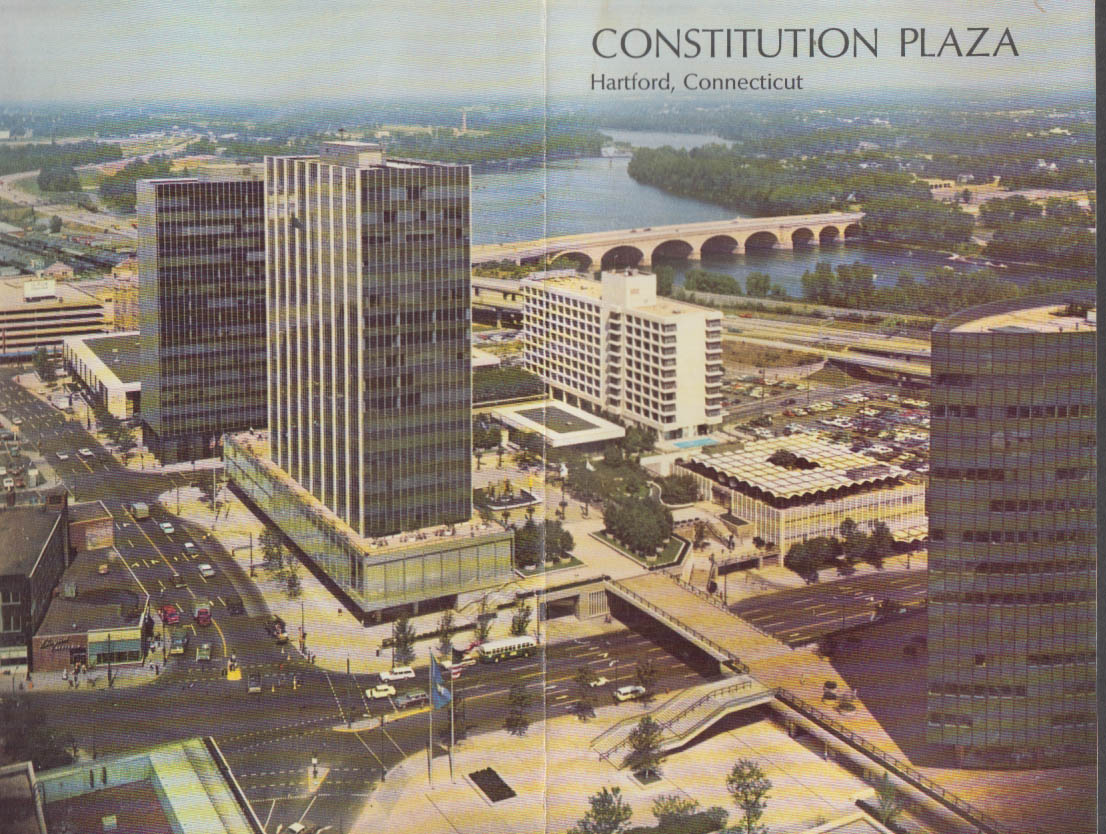 Constitution Plaza Hartford CT information folder ca 1967