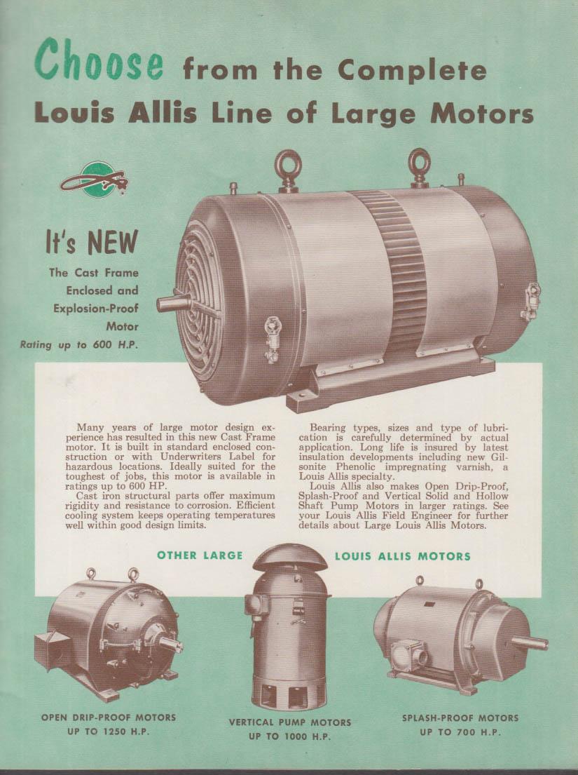 Louis Allis Electric Motors & Drives MESSENGER V1 1956 Pharos Lighthouse